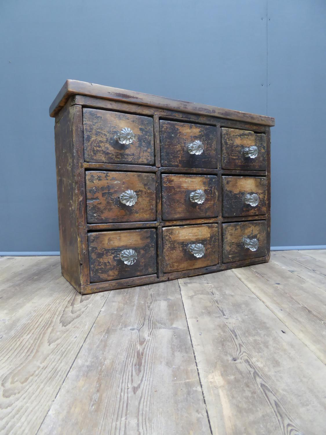 Victorian Pine Apothecary Drawers