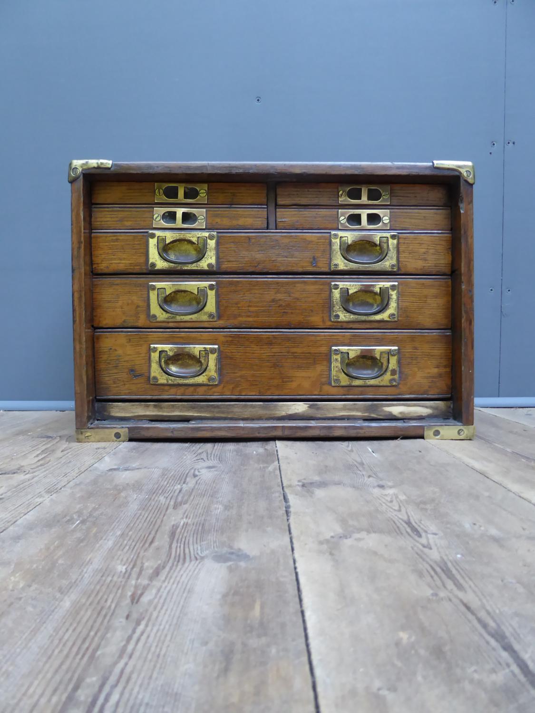 Oak & Brass Engineers Drawers