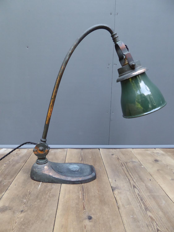 Early Copper Desk Lamp