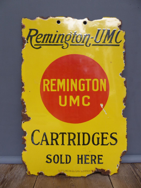 Remington Shotgun Cartridges Enamel Sign