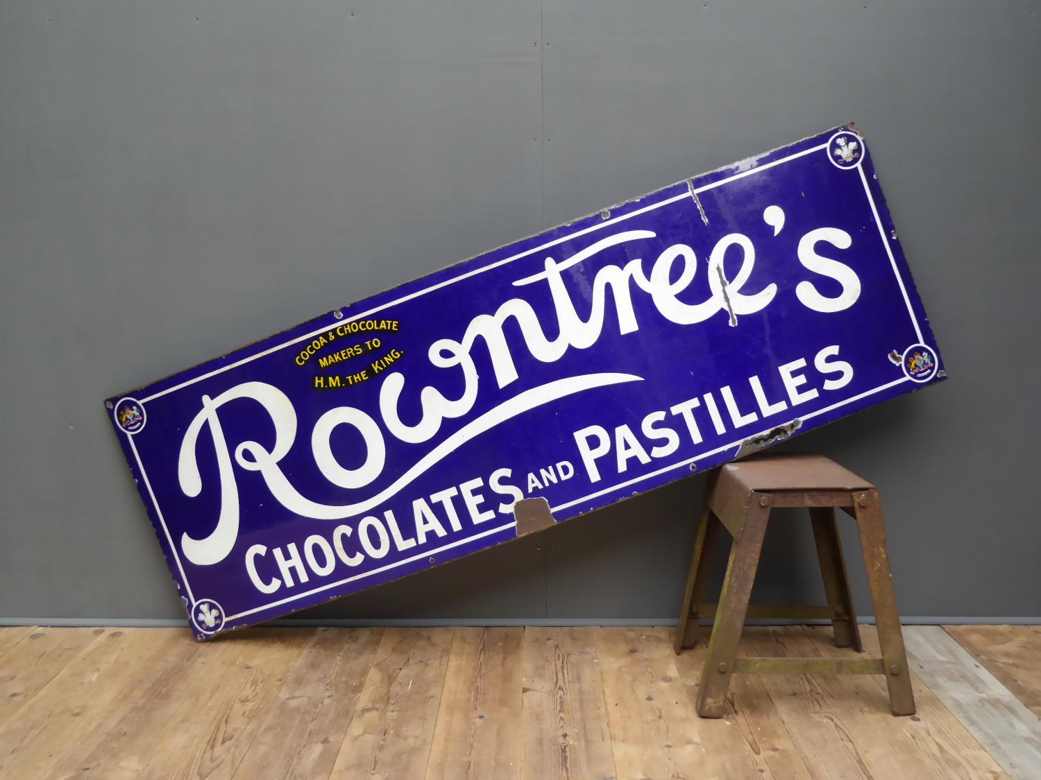 Rowntrees Enamel Sign