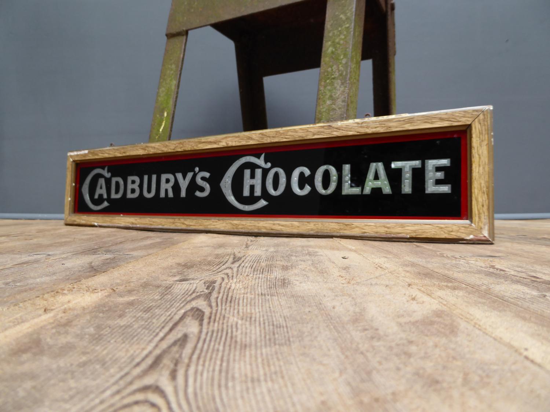 Cadburys Chocolates Glass Advertising Sign