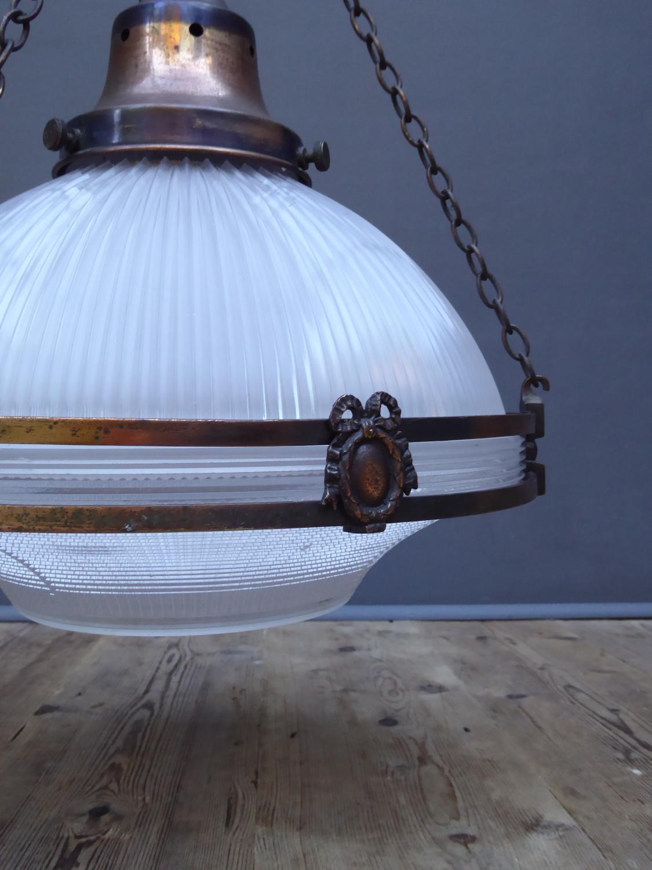 Large Holophane Chandelier Light