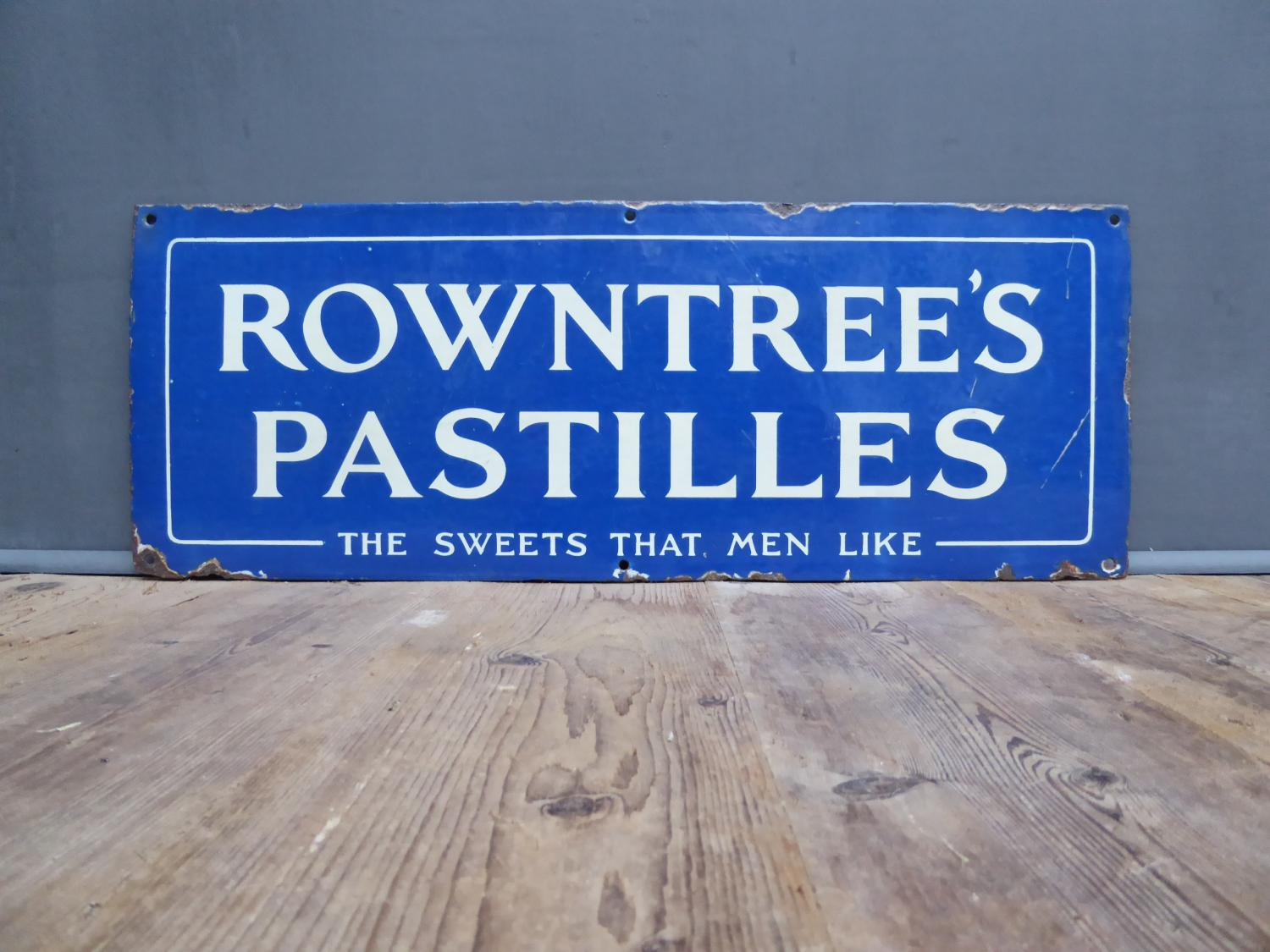 Rowntrees Pastilles 'Sweets Men Like' Enamel