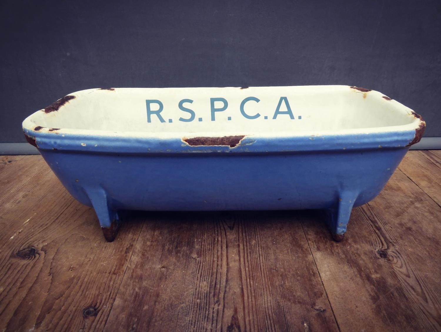 Cast Iron & Enamel RSPCA Water Trough