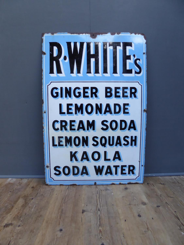 R Whites Enamel Sign