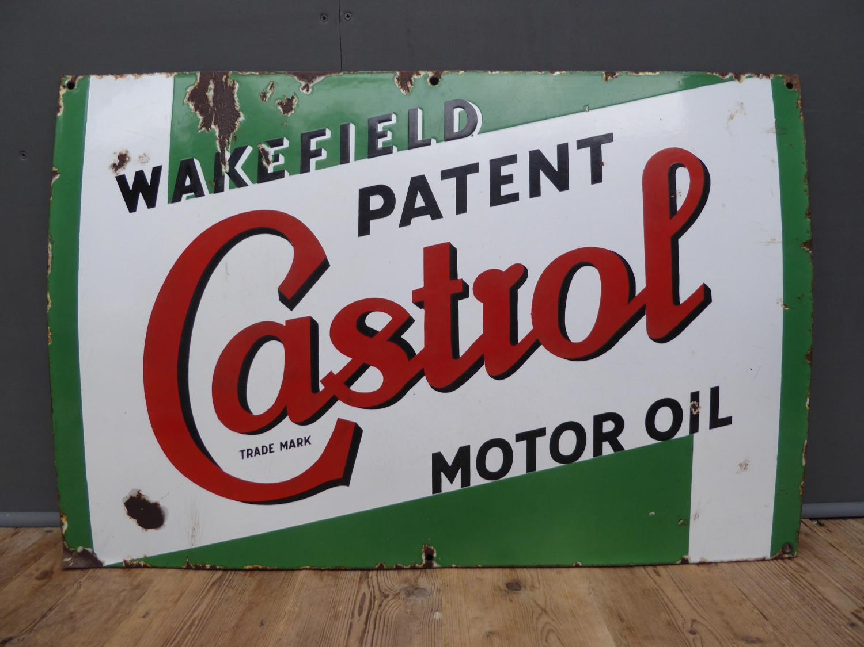 Castrol Motor Oil Enamel Sign