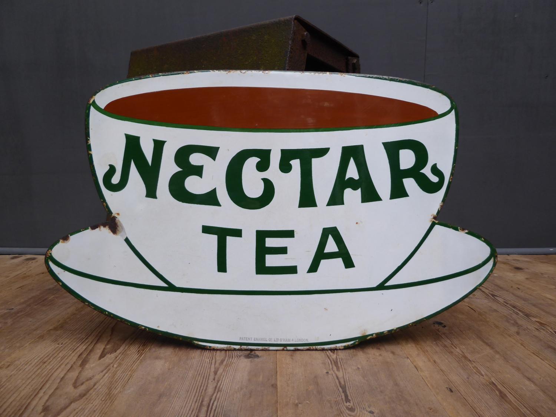 Nectar Tea 'Teacup' Enamel Sign
