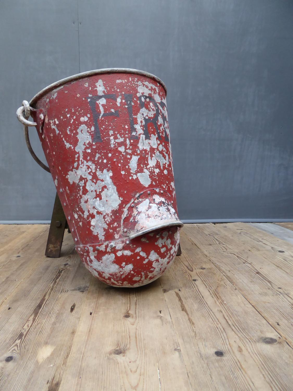 Early Fire Bucket In Original Paint