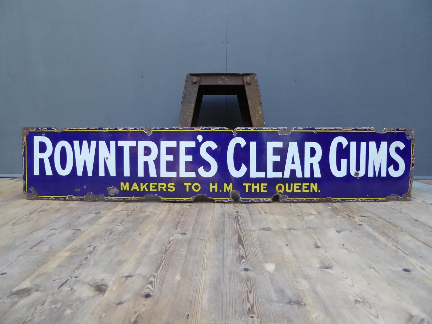 Rowntrees Clear Gums Enamel Sign