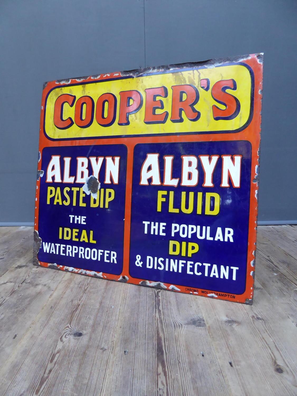 Coopers Sheep Dip Enamel Sign