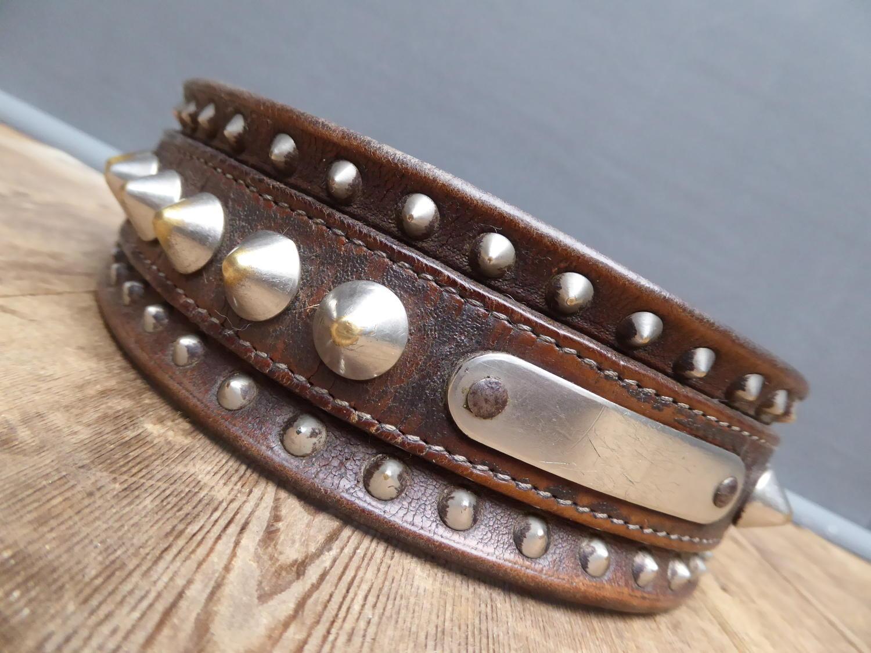 Studded Leather Dog Collar