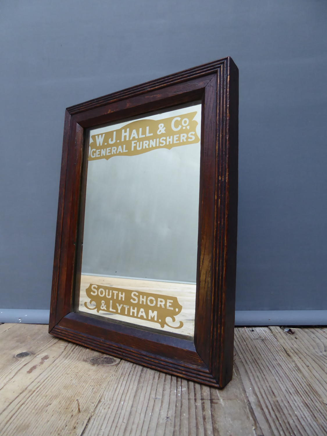 Early Furnishers Advertising Mirror