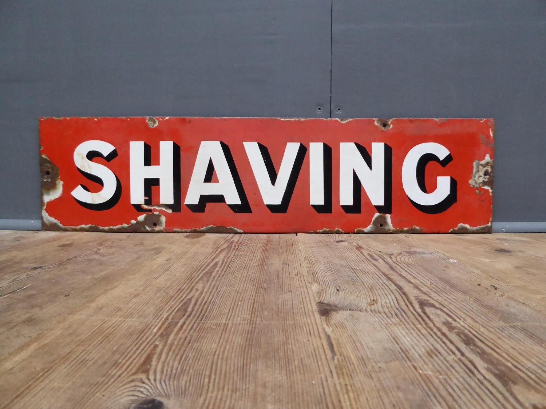 Enamel Barbers Sign