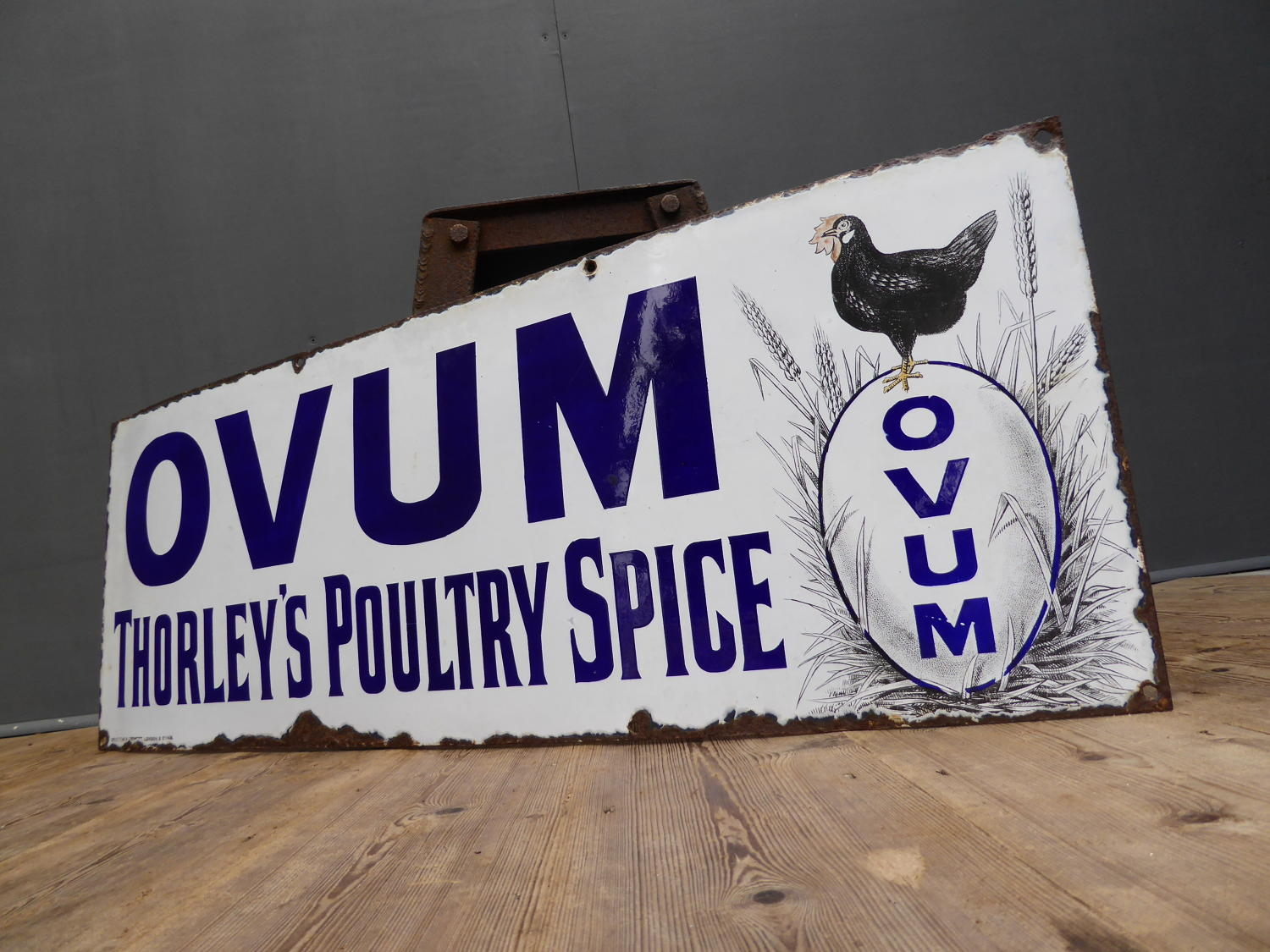 Thorleys Poultry Spice Pictorial Enamel Sign