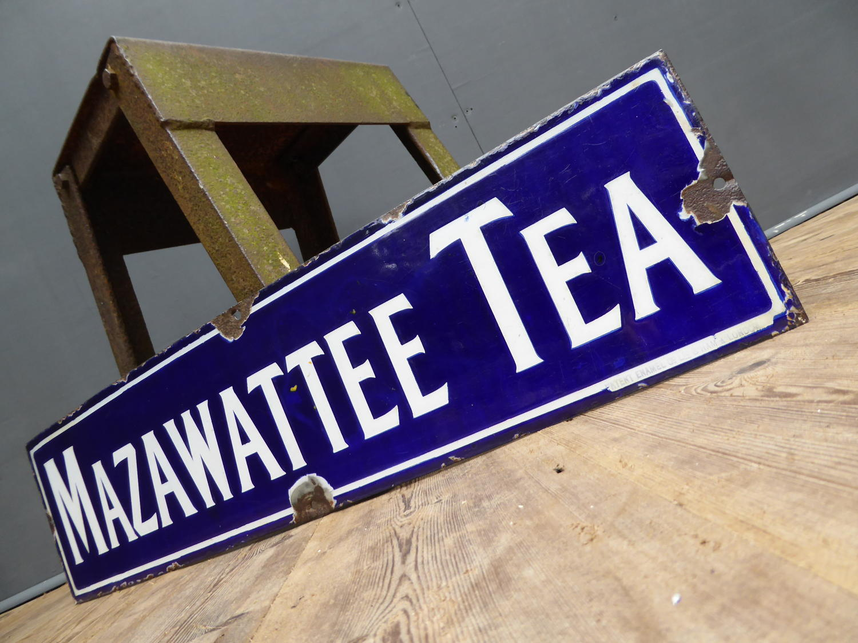 Mazawattee Tea Enamel Sign