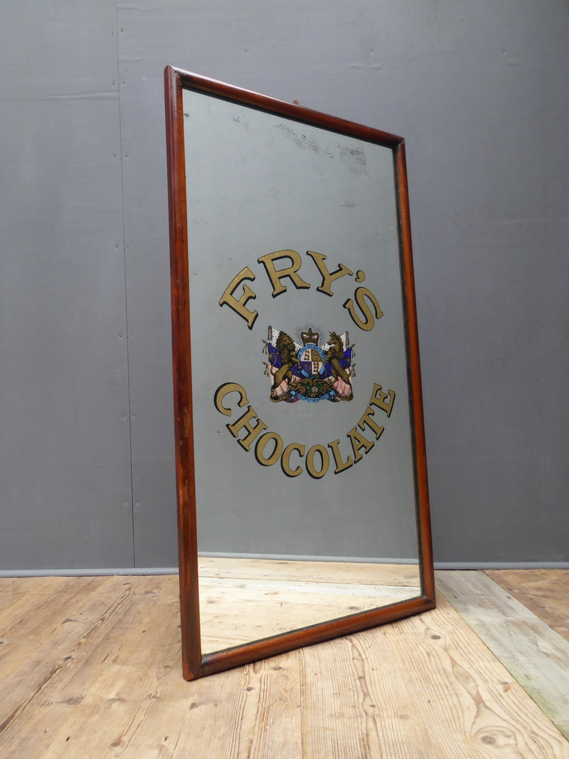 Large Frys Chocolate Gilt Advertising Mirror