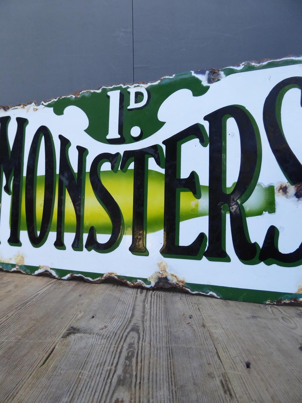 Monsters Enamel Sign