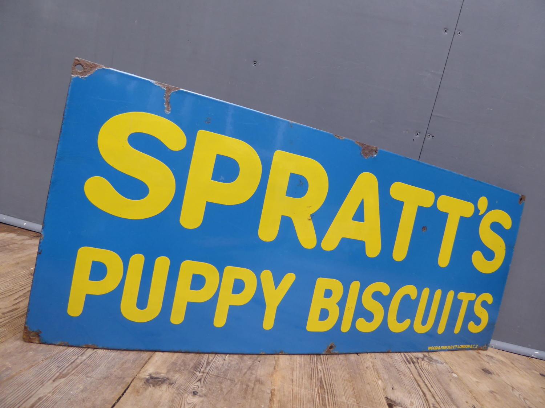 Spratts Puppy Biscuits Enamel Sign