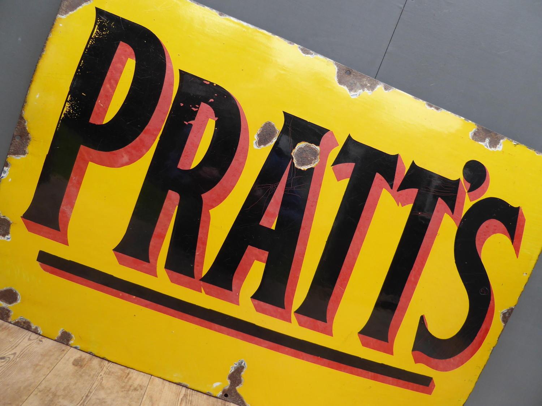Pratts Motor Spirit Enamel Sign