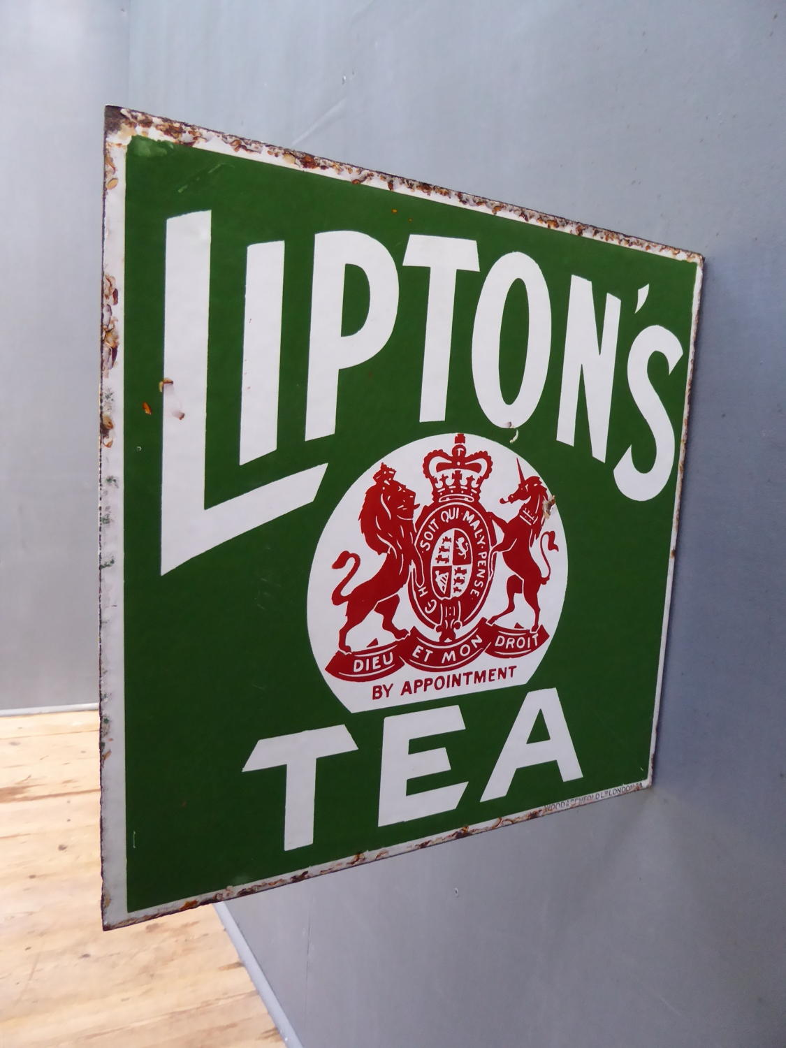 Liptons Tea Enamel Sign