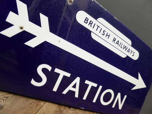 British Railways Station Enamel Sign