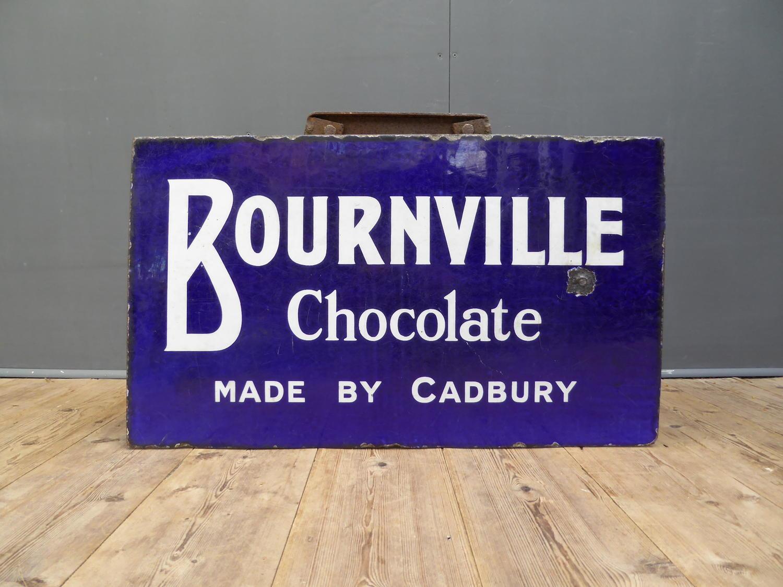 Cadburys Bournville Chocolate Enamel Sign