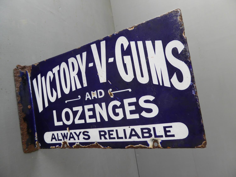 Victory V Gums & Lozenges Enamel Sign