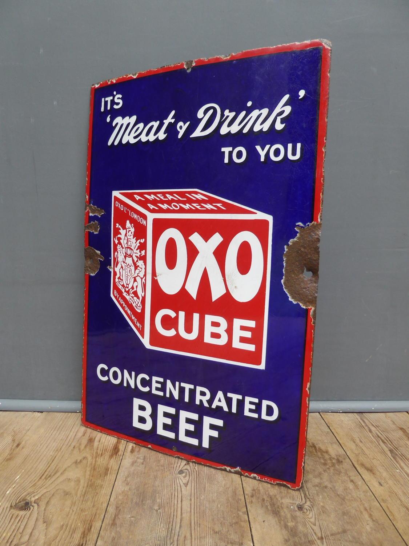Oxo Enamel Sign