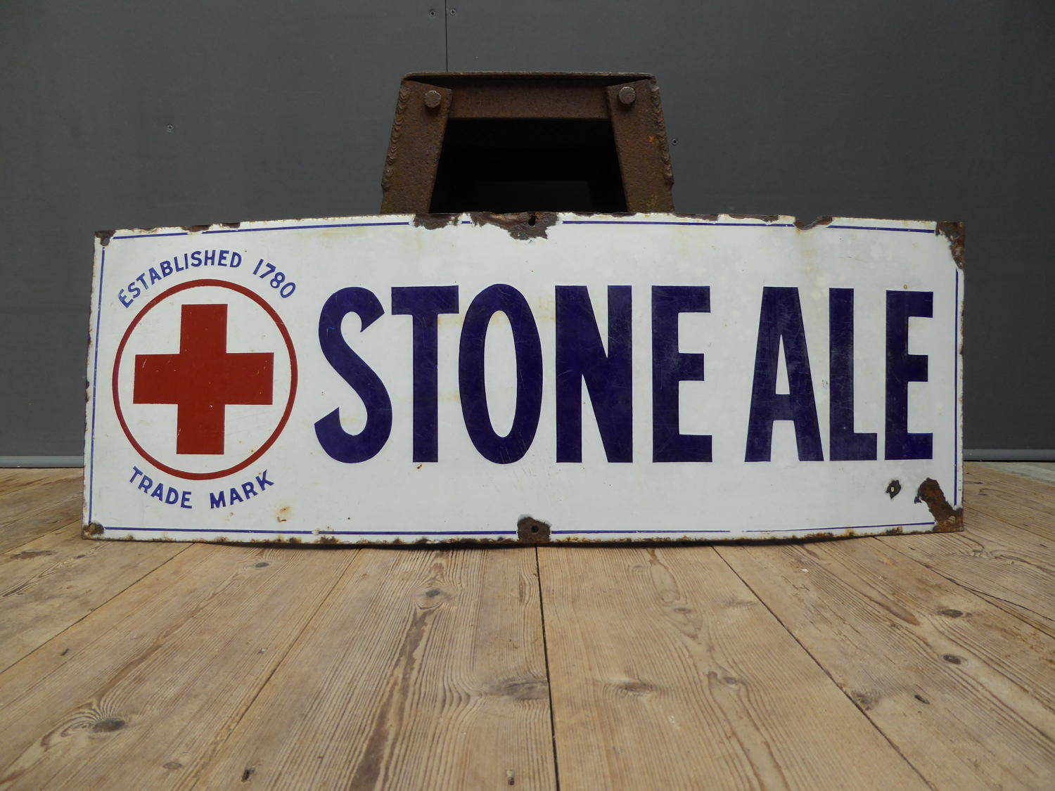 Stone Ale Enamel Sign
