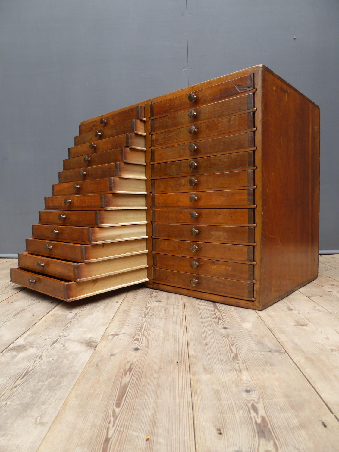 Bank Of Printers Drawers By F Ullmer