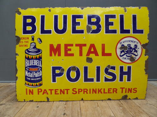 Bluebell Metal Polish Enamel Sign