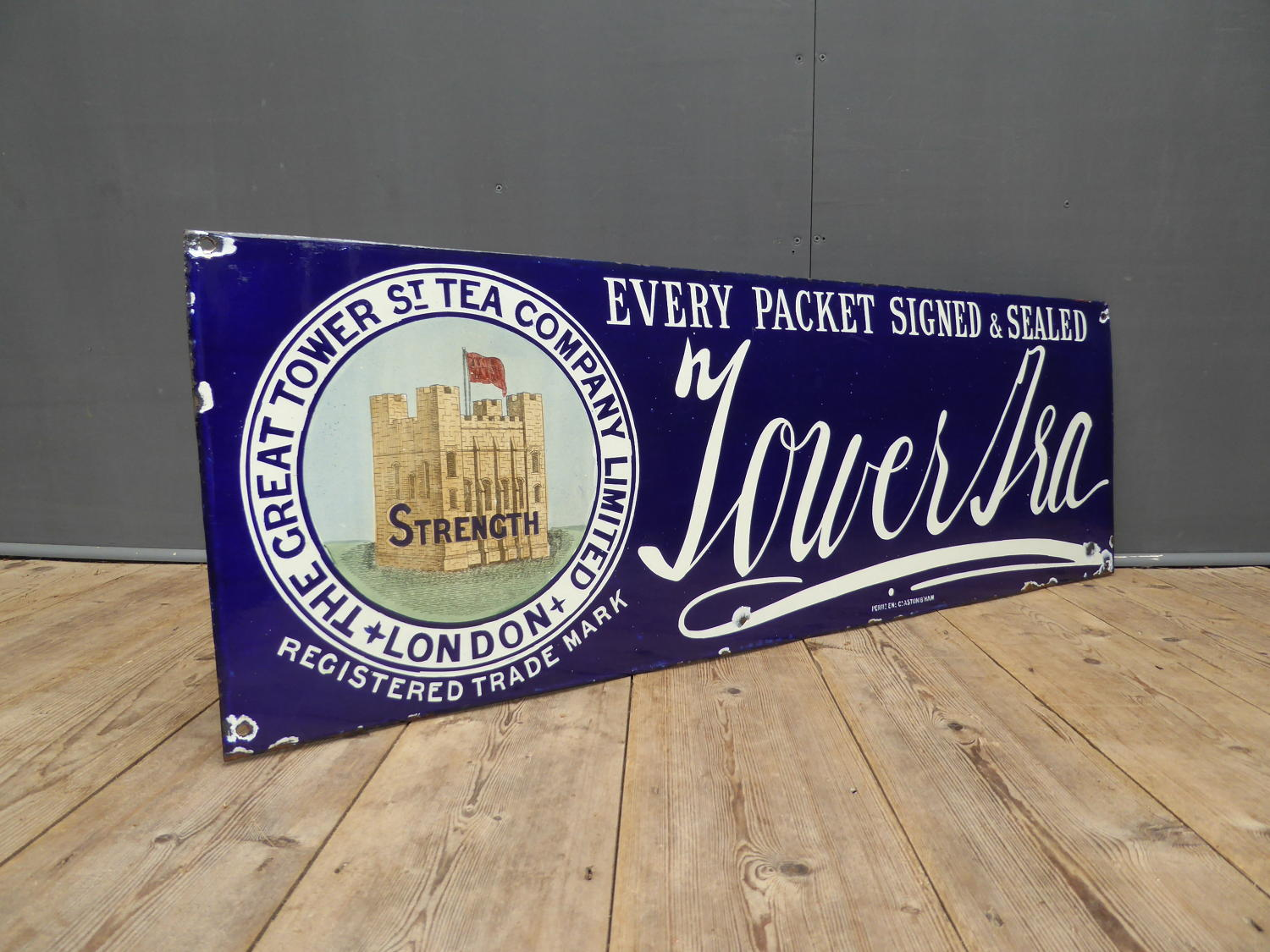 Tower Tea Enamel Sign