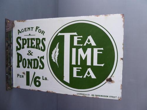 Spier  & Ponds Tea Enamel Sign