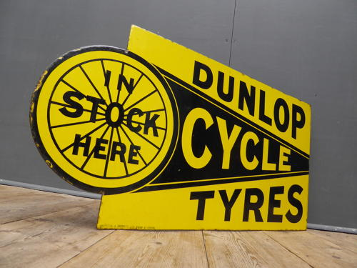 Dunlop Cycle Tyres Enamel Sign