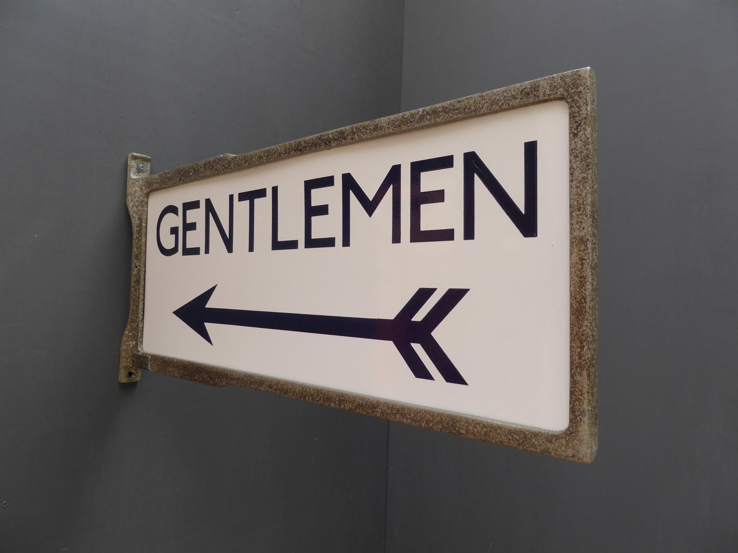 London Underground 'Gentlemen' Enamel Sign