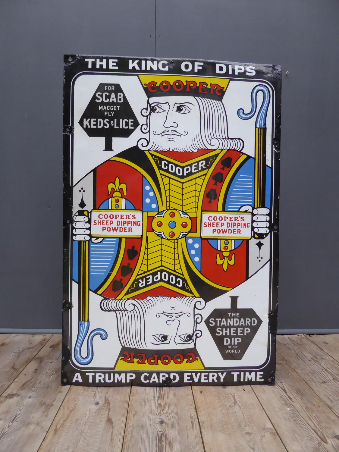Coopers 'King Of Dips' Enamel Sign