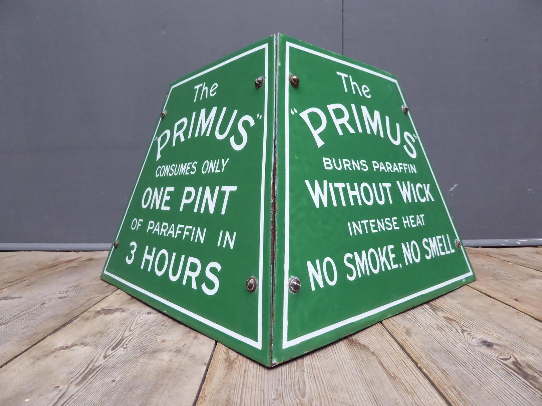Primus Stoves Enamel Advertising Display