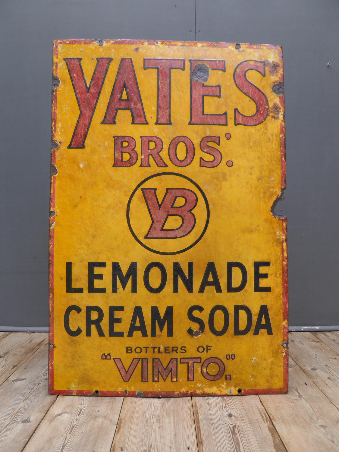 Yates Bros Enamel Sign