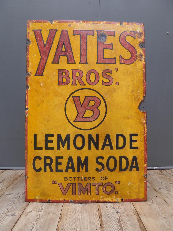 Yates Bros Enamel Sign