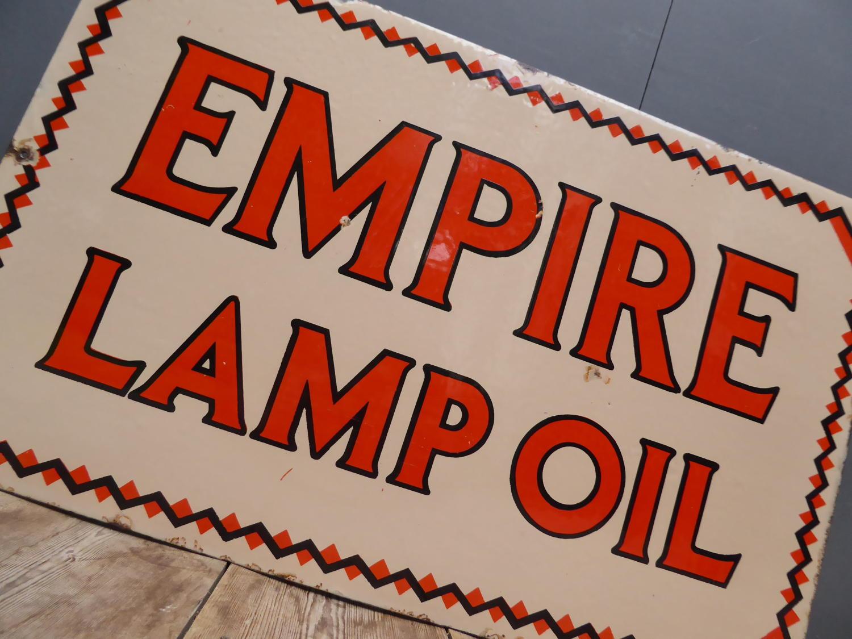Empire Lamp Oil Enamel Sign