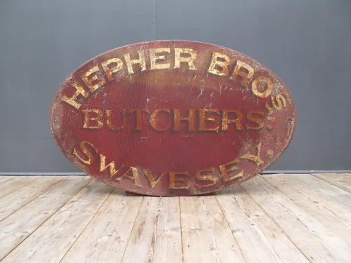 Hepher Bros Butchers Trade Sign