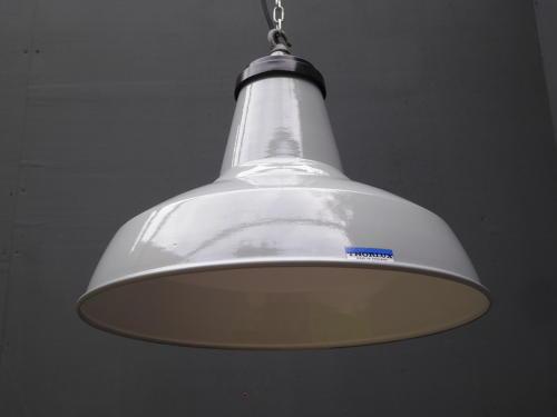 Thorlux Grey Enamel Pendant Lights
