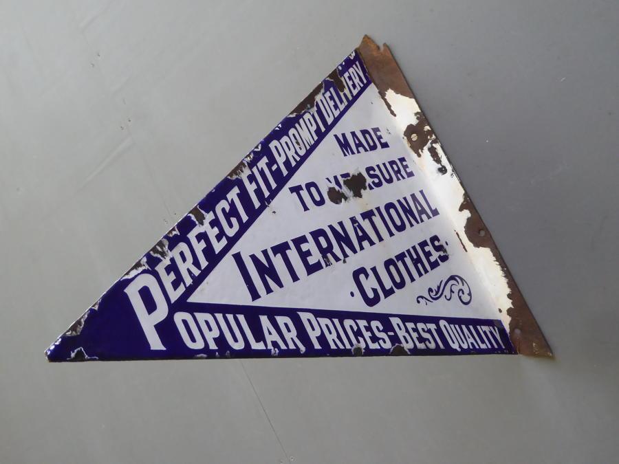 Tailors Enamel Sign
