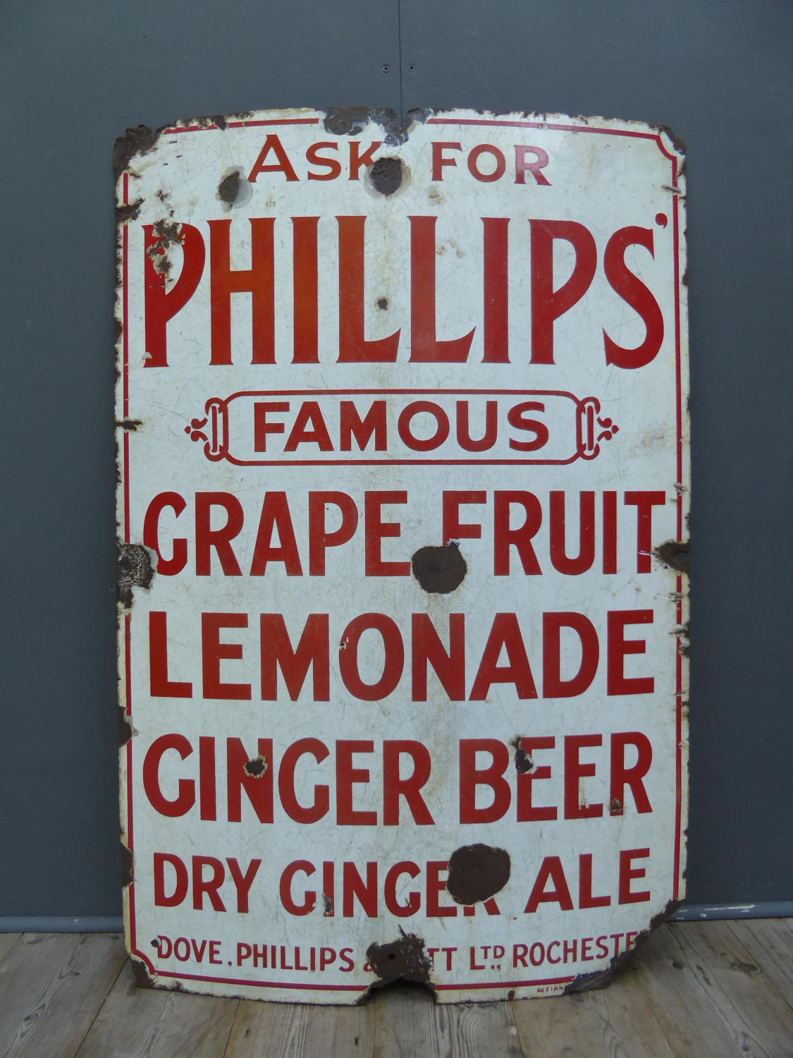Phillips Soft Drinks Enamel Sign