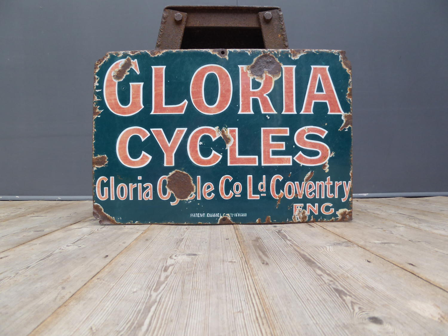 Gloria Cycles Enamel Sign