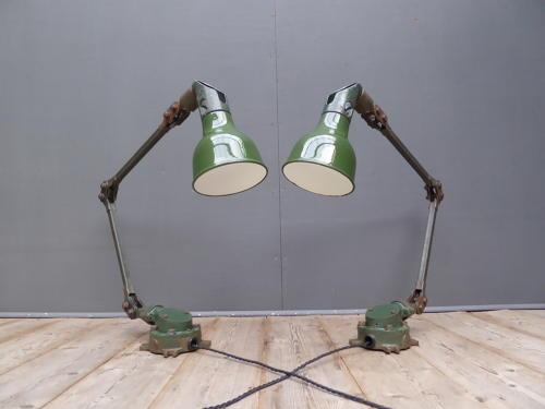 Pair Of Mek Elek Machinist Lamps