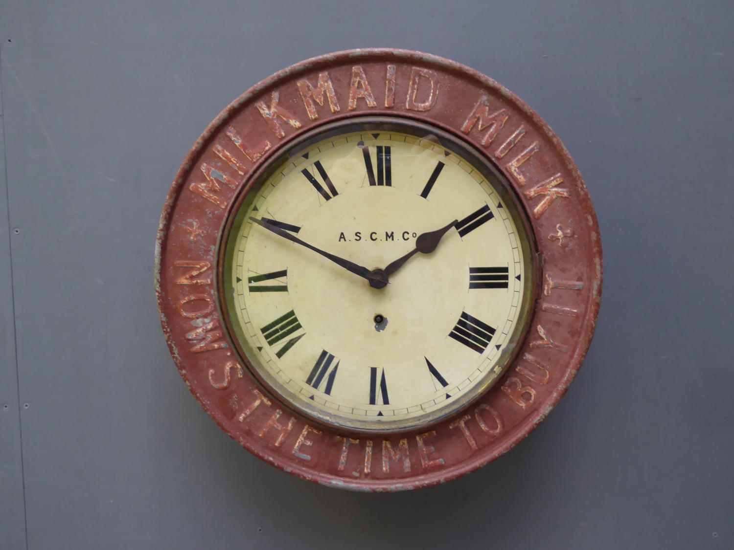 Milkmaid Advertising Clock