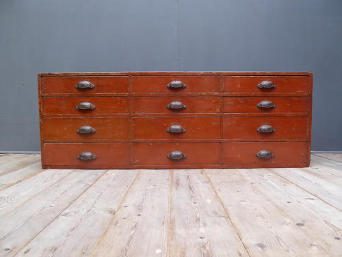 Bank Of Pine Apothecary Drawers