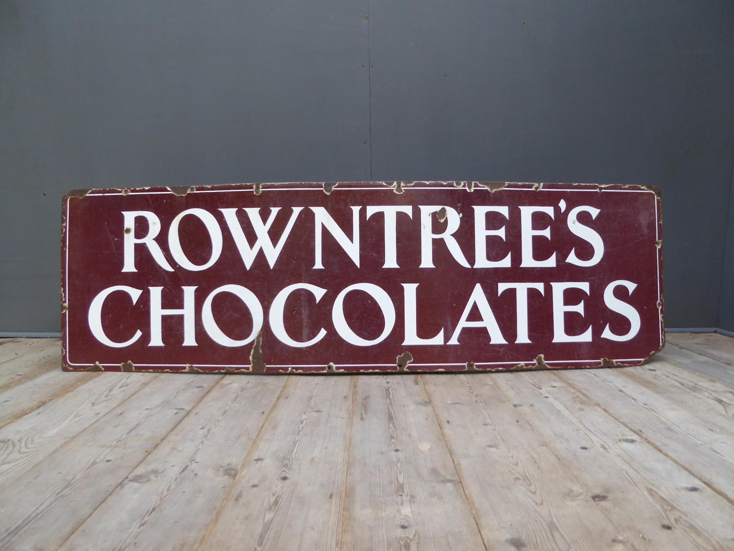 Rowntrees Chocolates Enamel Sign